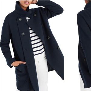 Madewell City Grid Double Breasted Pea Coat